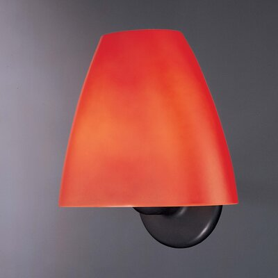 "George Kovacs by Minka 9.25"" Wall Sconce in Painted Restoration Bronze with Burnt Umber Glass"