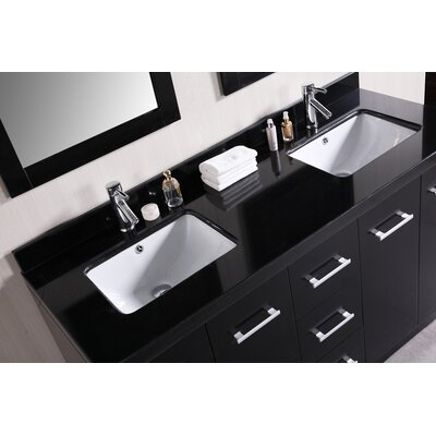 "Design Element Cosmo 60"" Double Sink Bathroom Vanity Set"