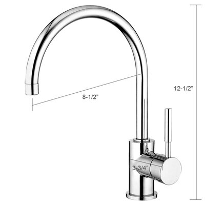 Water Creation One Handle Single Hole Mount Contemporary Style Kitchen Faucet