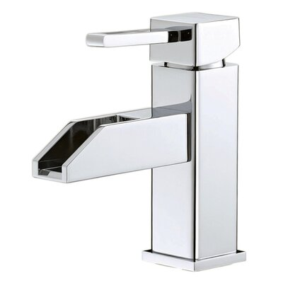 Water Creation Single Hole Square Bathroom Faucet with Single Handle