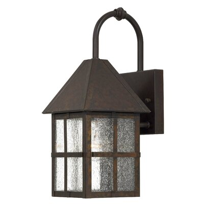Great Outdoors by Minka Townsend  Outdoor Wall Lantern in Rust