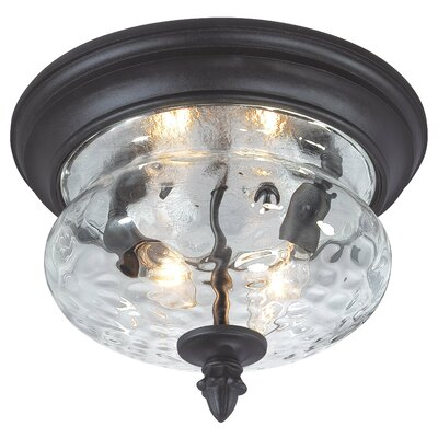 Great Outdoors by Minka Ardmore 2 Light Outdoor Flush Mount