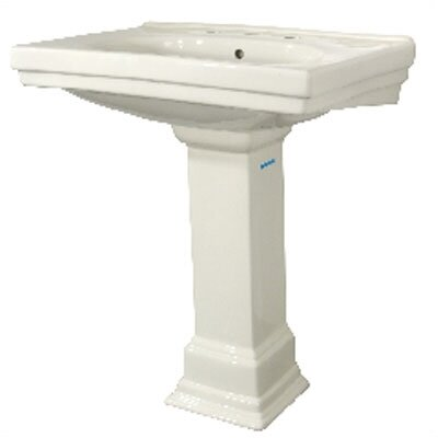 Structure Bathroom Sink and Pedestal Set - FL-1950-8BK