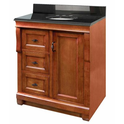"Foremost Naples 30"" Bathroom Vanity with Left Door in Warm Cinnamon"