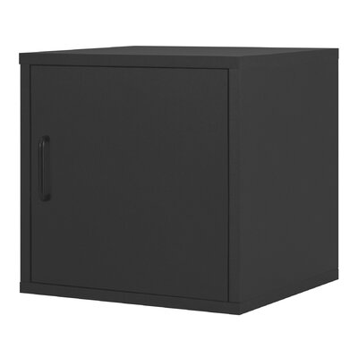 Foremost Modular Storage Cube with Door in Black