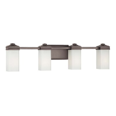Metropolitan by Minka Four Light Bath Vanity in Dark Brushed Bronze