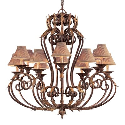 Metropolitan by Minka Zaragoza Twelve Light Chandelier in Golden Bronze with Optional Shades