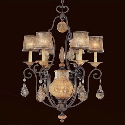 Metropolitan by Minka Monte Titano Six Light Chandelier in Monte Titano Oro with Optional Ceiling Medallion
