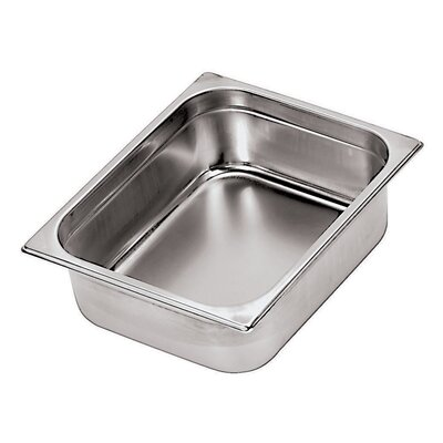 Paderno World Cuisine Stainless Steel Hotel Pan - 2/4 in Silver