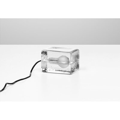 Design House Stockholm Mini Block Lamp in Clear Glass by Harri Koskinen