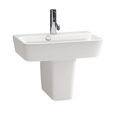 Emma Semi Pedestal Ceramic Bathroom Sink - 27080-27432