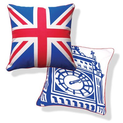 Naked Decor British Invasion Reversible Big Ben Pillow