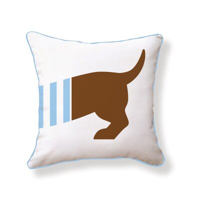 Naked Decor Playful Doxie Double Sided Cotton Pillow