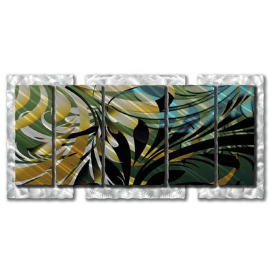 "All My Walls Jungle Abstract Wall Art - 32"" x 63.5"""