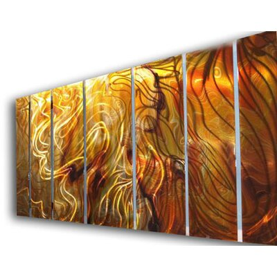 "All My Walls Abstract by Ash Carl Holographic Wall Art in Orange - 23.5"" x 60"""