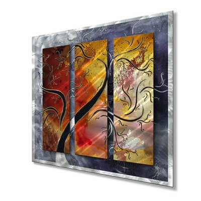 All My Walls Golden Sunrise Metal Wall Sculpture