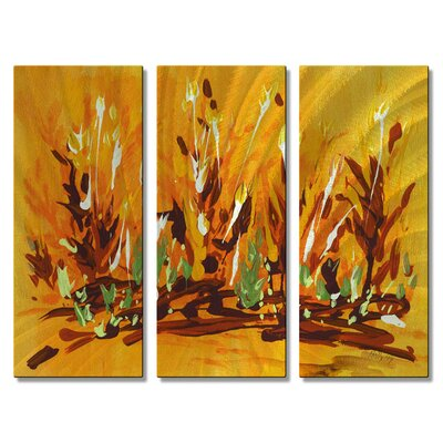 Autumn Garden Metal Wall Hanging