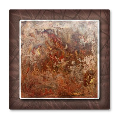 Marbleized Copper Metal Wall Art