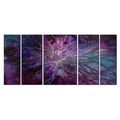 Violet Universe Metal Wall Decor