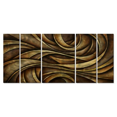 Neutral Waves Metal Wall Hanging