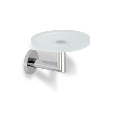 Stilhaus by Nameeks Medea Wall Mounted Glass Soap Dish in Chrome