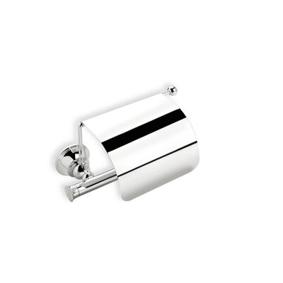 Stilhaus by Nameeks Smart Wall Mounted Toilet Roll Holder with Cover in Chrome