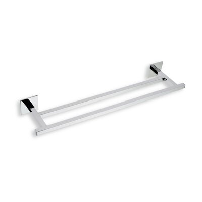 "Stilhaus by Nameeks Urania 12"" Wall Mounted Double Towel Bar in Chrome"