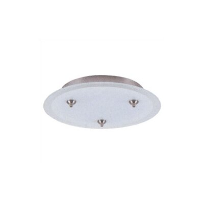 "LBL Lighting 12.75"" Round Dome Fusion Jack Canopy for Three Pendant Configurations"