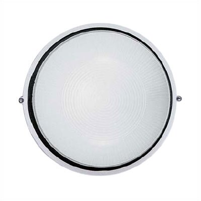 LBL Lighting Large Round Aluminum Bulkhead Wall or Ceiling Mounted Lamp