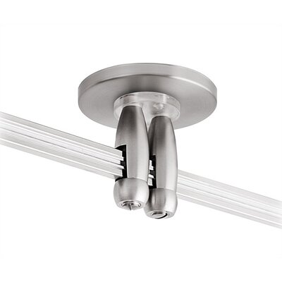 LBL Lighting 4&quot; Track Lighting Direct and Dual Feed Canopy in Satin Nickel