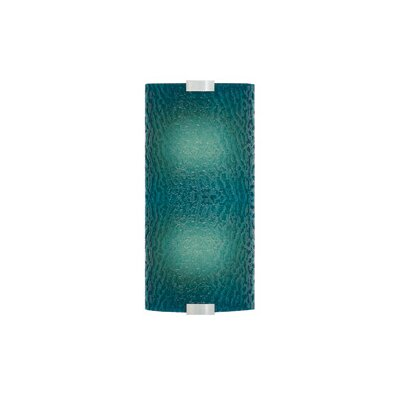 LBL Lighting Omni 120V Medium Two Light Outdoor Wall Sconce with Bubble Glass shade in Silver