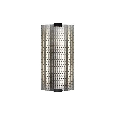 LBL Lighting Omni 277V Medium One Light Outdoor Wall Sconce with Metal Meta in Silver
