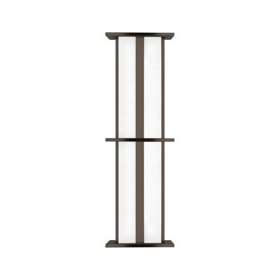 LBL Lighting Modular Tubular 25W 277V Large Two Light Outdoor Wall Sconce in Bronze