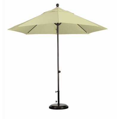 California Umbrella 9' Fiberglass Market Easy Lift Umbrella