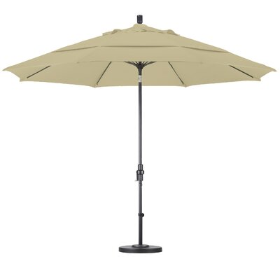 California Umbrella 11' Fiberglass Market Collar Tilt Umbrella