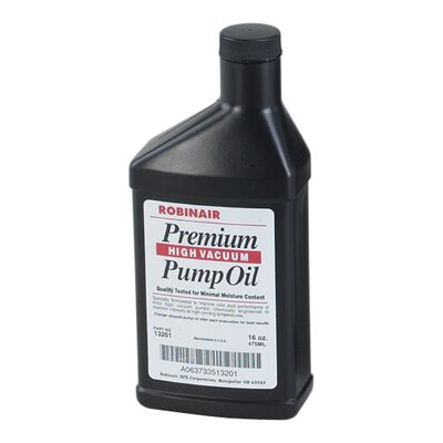 Robinair Cs/12 Prem High Vac Pump Oil 16Oz