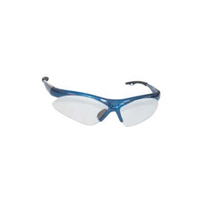 SAS Safety Diamondback Safety Gls Blue Frame/Clr Lens