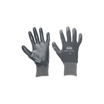 SAS Safety Gloves Nitrile Coated Xxlg Black 1Pr
