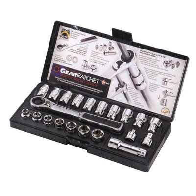 KD Tools 3/8 Dr 21Pc Pass Thru Rtcht Set