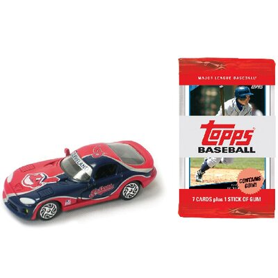 ERTL MLB Dodge Viper Car with 10 Packs of Trading Cards - Cleveland Indians