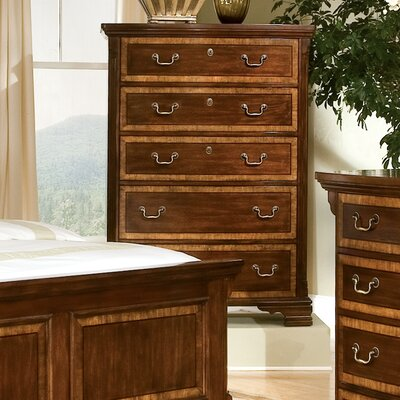 American Woodcrafters Wellington Manor 5 Drawer Chest