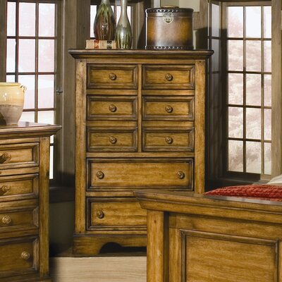 American Woodcrafters Eagles Nest 8 Drawer Chest
