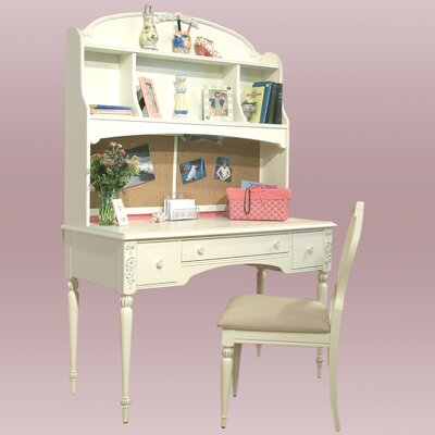 American Woodcrafters Cheri Computer Desk and Hutch