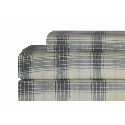 Cascade Plaid Flannel Sheet Set