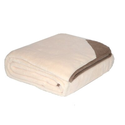 Suede Trim Fleece Throw