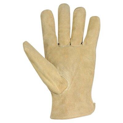 Custom Leathercraft Split Cowhide Driver Men's Work Gloves