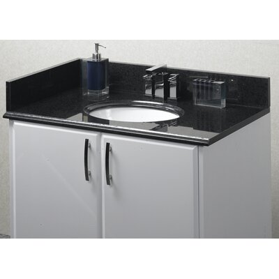Pegasus Midnight Black Granite Vanity Top