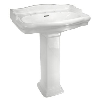 English Turn Petite Pedestal Sink Set with Centers - ECETP4