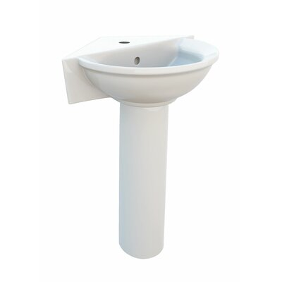 Elizabethan Classics English Turn Single Hole Corner Pedestal Sink
