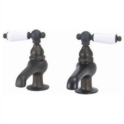 Elizabethan Classics Bathroom Faucet Set with Metal Porcelain Handles